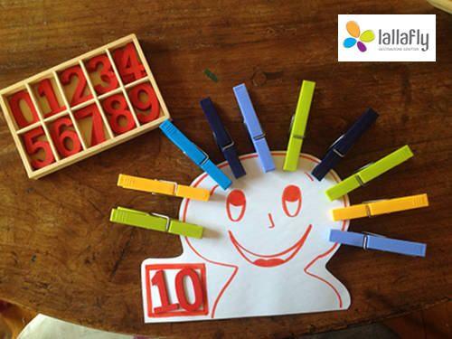 Un gioco semplice per bambini dai 3 ai 6 anni per apprendere la matematica e l'associazione simbolo-quantità divertendosi