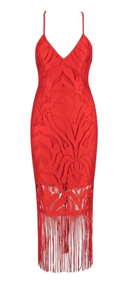 Julina Red Bandage Dress