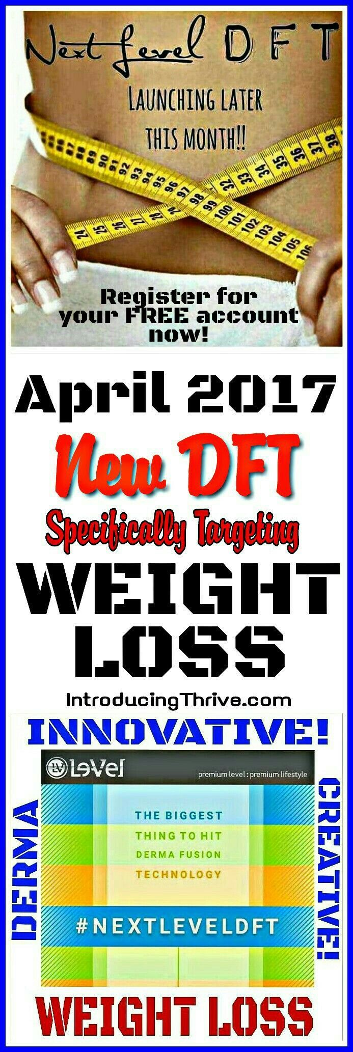NEW! Weight Loss Vitamin DFT diet patch set to be released April 2017! Are you ready to jump start your diet goals? Register for your Free Le-Vel account today, be the first to get these amazing new weight loss diet patches!