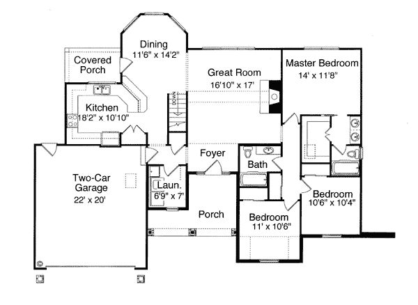 50 best house plans under 1800 sq ft images on pinterest for 1800 sq ft bungalow floor plans