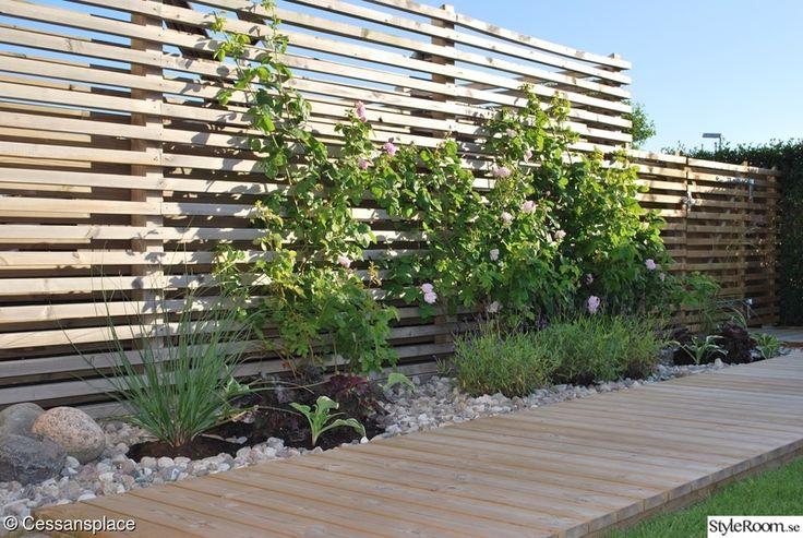 liggande staket och trägång