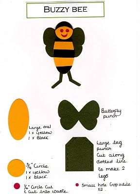 Buzzy bee punch art: Paper Craft, Bees, Papercrafts, Bing Images, Art Cards, Punchart, Punch Art