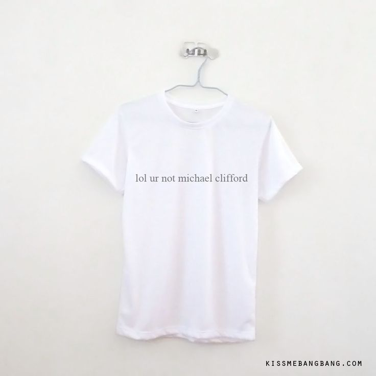 Lol Ur Not Michael Clifford T-shirt $12.99 ; Michael Clifford ; 5 Seconds of Summer ; 5 SOS Shirt ; Fangirl ; Graphic Tees ; Tumblr Quote ; Teen Fashion ; Shop more #5SOS items at http://kissmebangbang.com/product-category/5-second-of-summer/