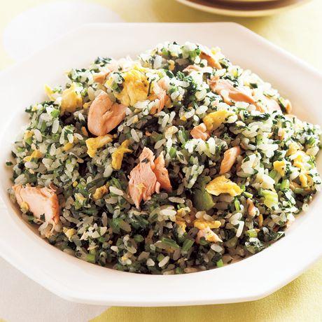鮭と卵のほうれん草チャーハン   石原洋子さんのチャーハンの料理レシピ   プロの簡単料理レシピはレタスクラブニュース
