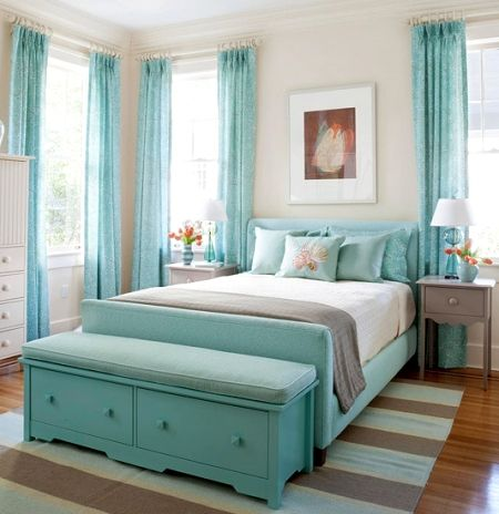 Create a Seaside Bedroom Retreat -5 Color Ideas from Better Homes and Gardens