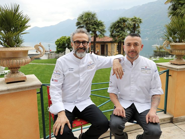 Massimo Bottura meets Salvatore Frequente for Sapori Ticino. Sitting on #tagliatelle #stools by Jasper Morrison  #massimobottura #chef #bestchef #salvatore frequente #shooting