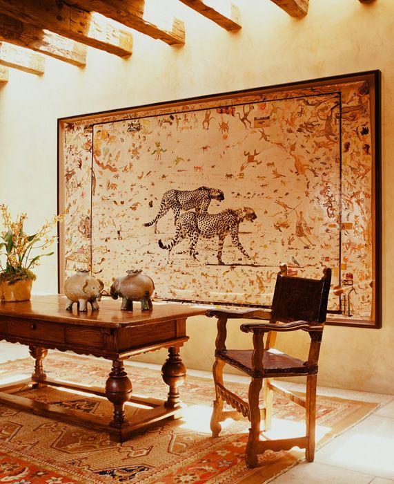 Martyn lawrence bullard design portfolio british for Colonial mural wallpaper