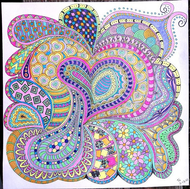 "Terry's Tangles - My Zentangle Inspired Art at Flickr. I started tangling this year as a means to bring some peace to my ""Tangled Mind."" Thank you so much. :)"