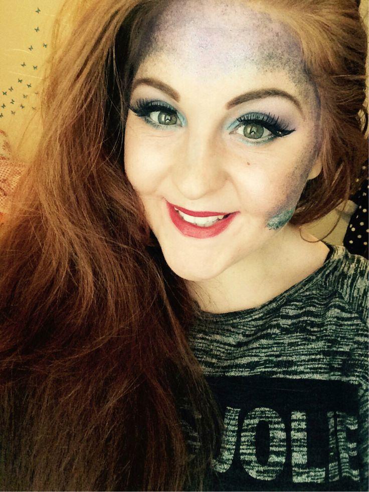 Little mermaid makeup Mermaid makeup, Little mermaid