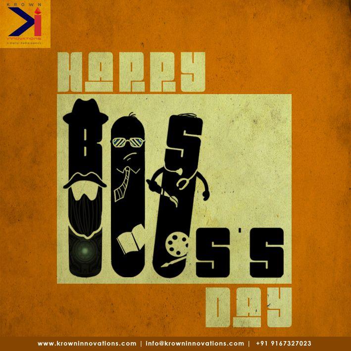 Not every boss is nice. We really hit the jackpot with you all! Happy Boss's Day!  #TeamKrown #Bossday #LuckyTeam #DigitalMedia #Mumbai #Creativeagency #KrownInnovations