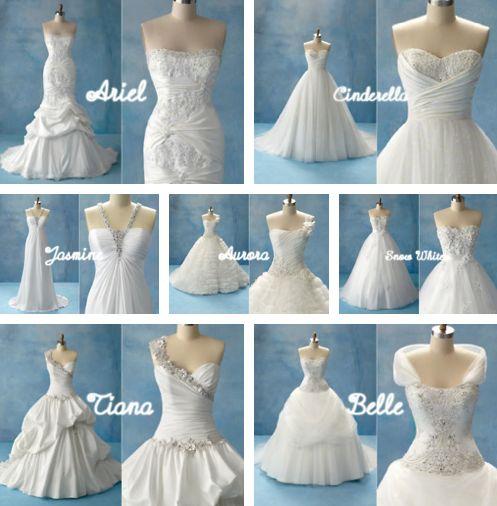 Disney Belle Wedding Dress: Disney Princess Inspired Wedding Dresses