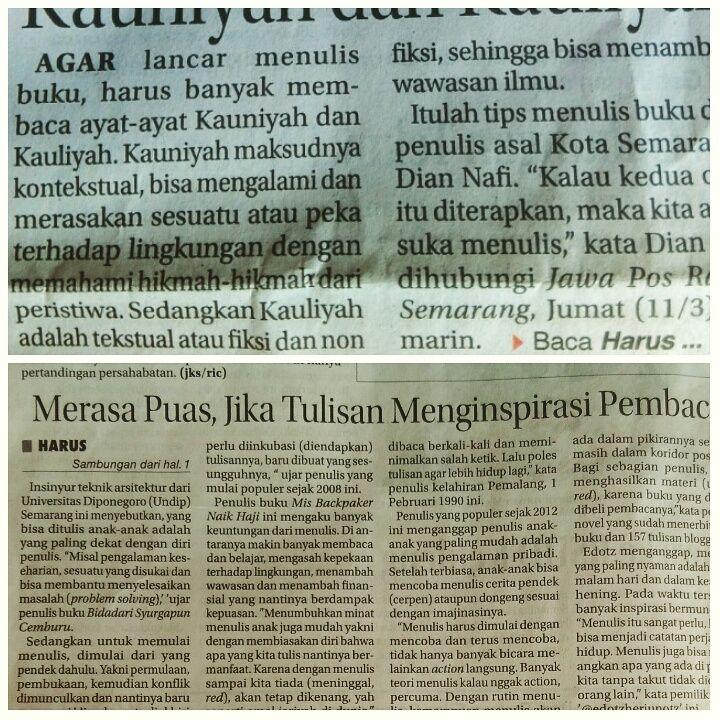Hybrid Writerpreneur: Sharing Tips Di Jawa Pos Radar Semarang
