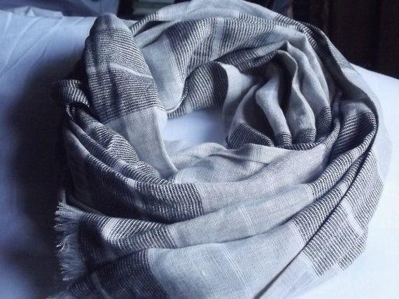 Natural Soft Beige/Grey and Beige with Black Melange Stripes
