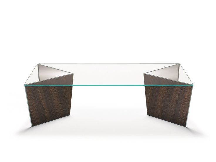 Low rectangular glass coffee table MIRAGE Mirage Collection by T.D. Tonelli Design | design Matteo Ragni