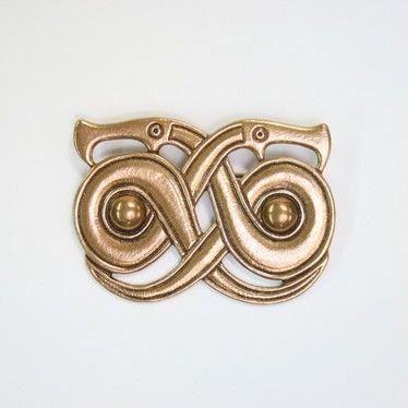 Kalevala Koru brass snake buckle. Popular jewelry motif in Finland and Sweden (400-550 AD).