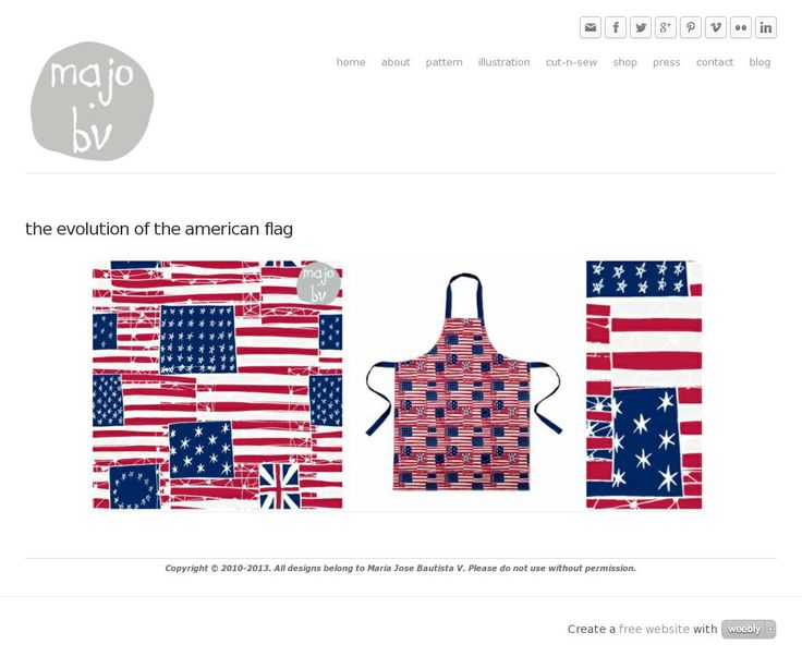 The Evolution of the American Flag by ©MaJoBV http://www.majobv.com/the-evolution-of-the-american-flag.html :: pattern :: vintage :: 4july