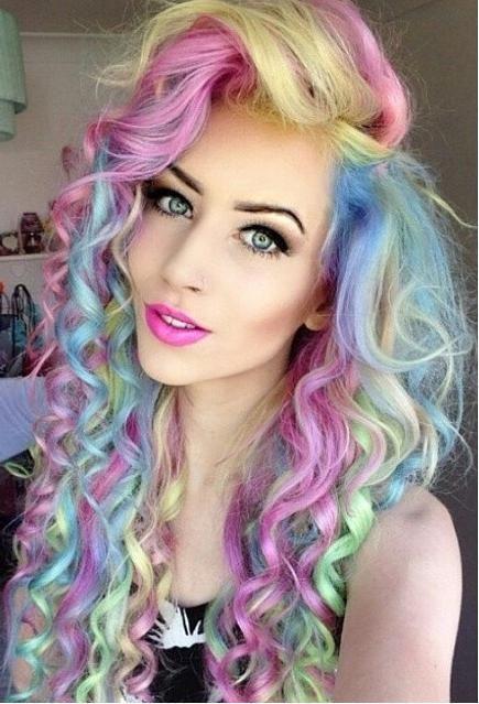 женские волосы разноцветные - Поиск в Google
