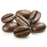 Roasted coffee espresso beans