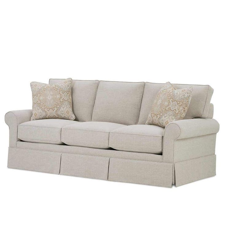 Golden Skirted Sofa