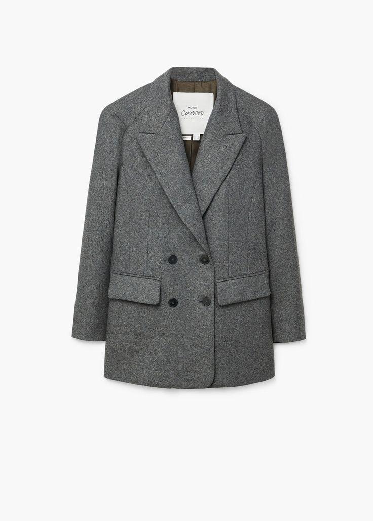 Flecked wool-blend blazer