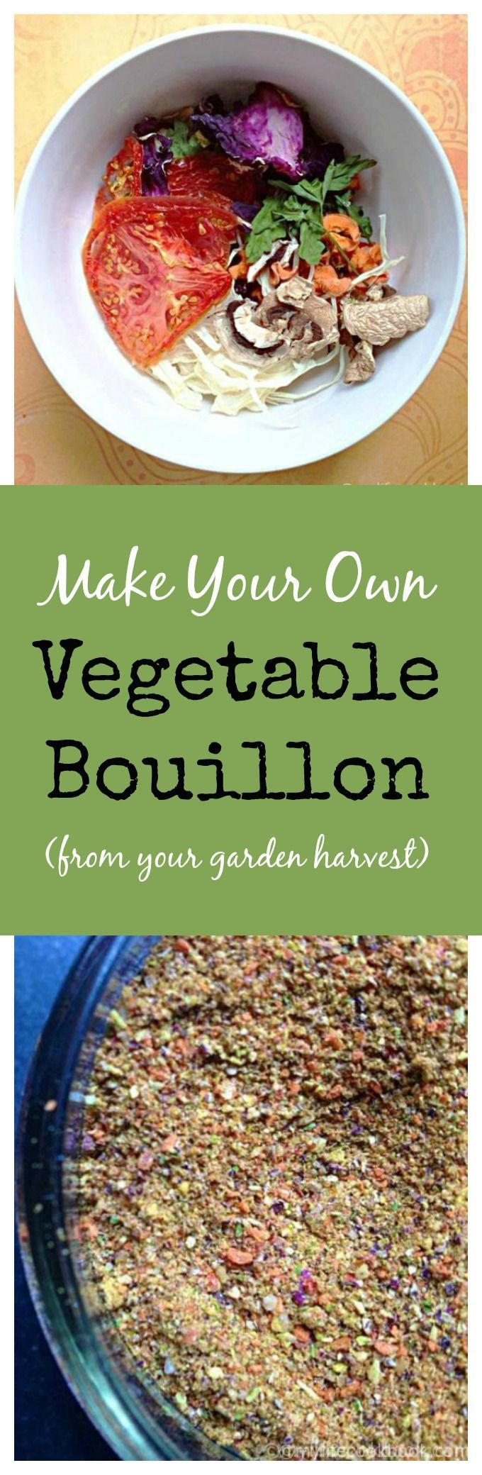This is an easy way to make vegetable bouillon from fresh vegetables you get from your garden or farmers market.