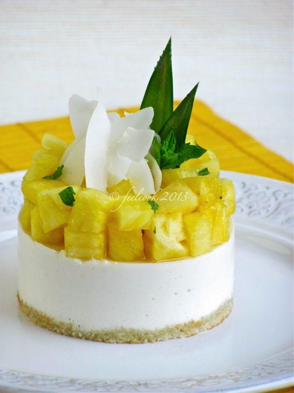 FeelCook cucina per passione: Mousse di yogurt, ananas e cocco