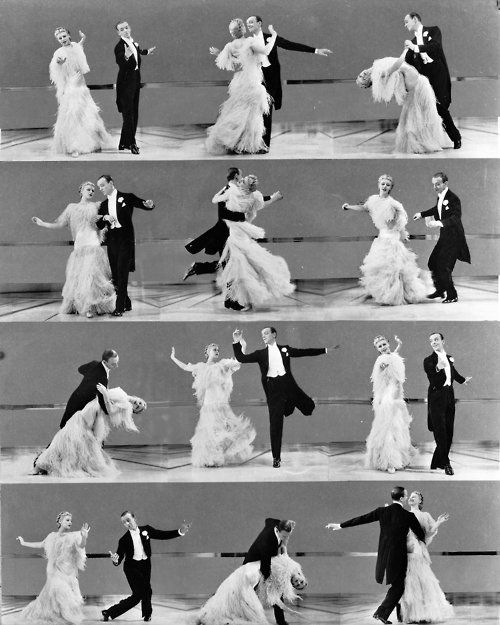 Fred Astaire and Ginger Rogers. Classic films. Not rated R, lots of sex, drugs, and cussing crap.