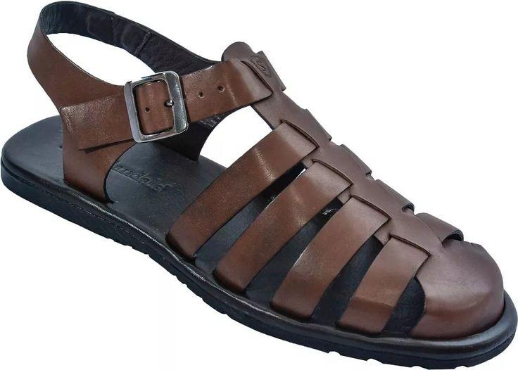 sandália masculina em couro stock sandals chinelo masculino