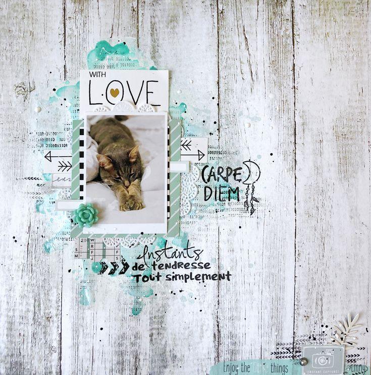 """PAGE """"LOVE"""" par Shannon pour la Scraposphère"""