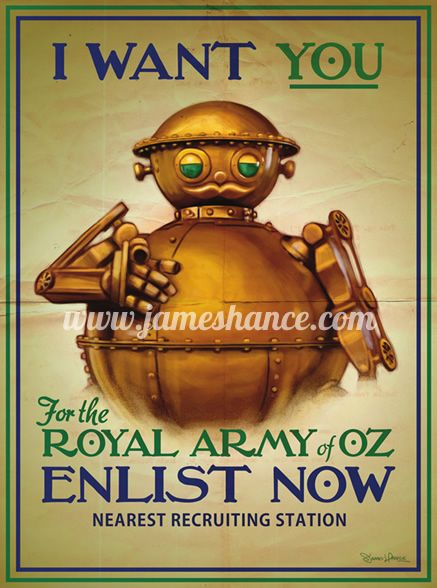 Parody of a WWI poster:  Relentlessly Cheerful Art by James Hance. http://www.jameshance.com/prints.html
