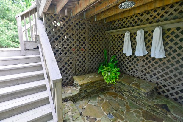 Outdoor Shower Under A Deck Outdoor Ideas Pinterest