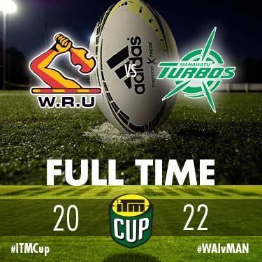 ITM Cup Full Time - Waikato Rugby 20 Official Manawatu Turbos 22 #ITMCup #WAIvMAN — at Waikato Stadium..jpg