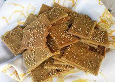 un crackers molto gustoso e croccante, per la dieta del gruppo sanguigno degli 0 e A. Gustali fino al pomeriggio, anche portandoli sul lavoro.