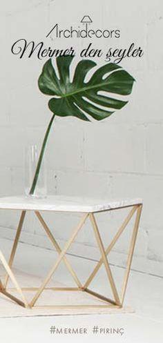 """Ürün sayfası için: http://archidecors.com/mobilyalar/oturma-odasi/sehpa/mermer-sehpa-v-no2/  #Mermer #Sehpa """"V"""" ile yaşam alanlarınız da doğanın ayak izleri."""