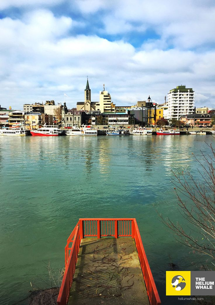 Calle Calle River and the Fluvial Market, Valdivia