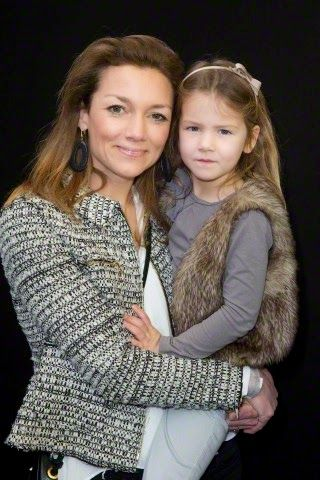 Dutch Princess Aimee with her daughter Magali attend the Jumping Amsterdam event in the RAI, 01.02.2015.