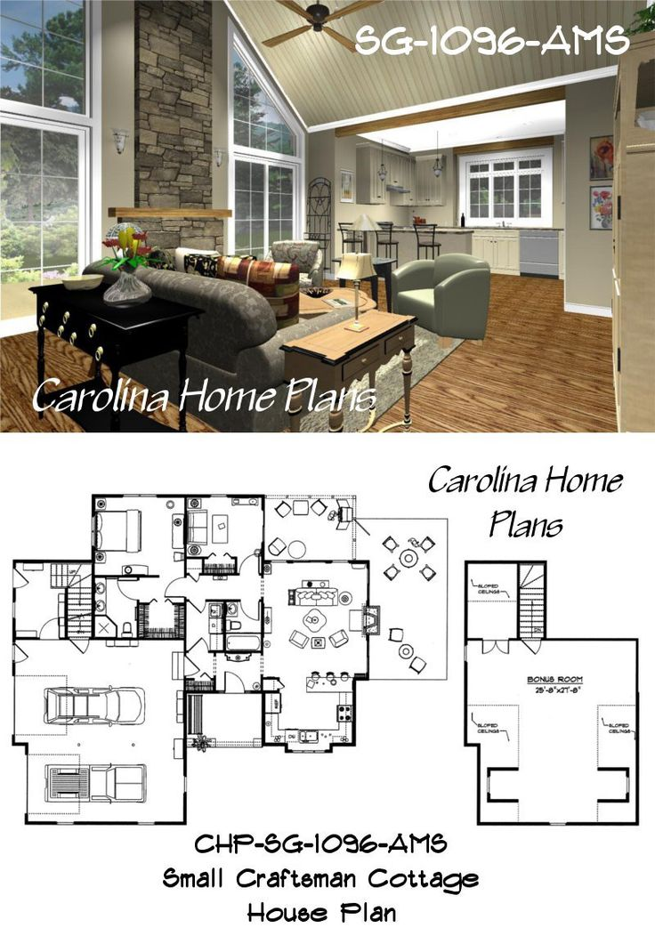 46 best house plans with split bedroom layout images on pinterest images of small craftsman cottage see floorplan views and images of small craftsman cottage with bonus room and open floor home plan for easy selection