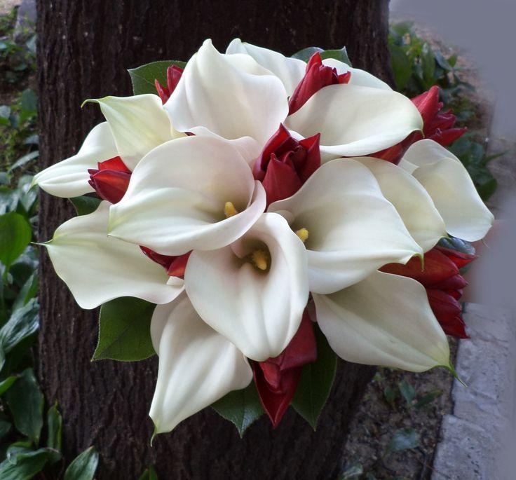 Calla wedding bouquet (kála menyasszonyi csokor)