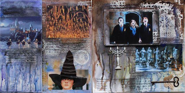 Гарри Поттер и тайная комната Harry Potter, mixed media layout