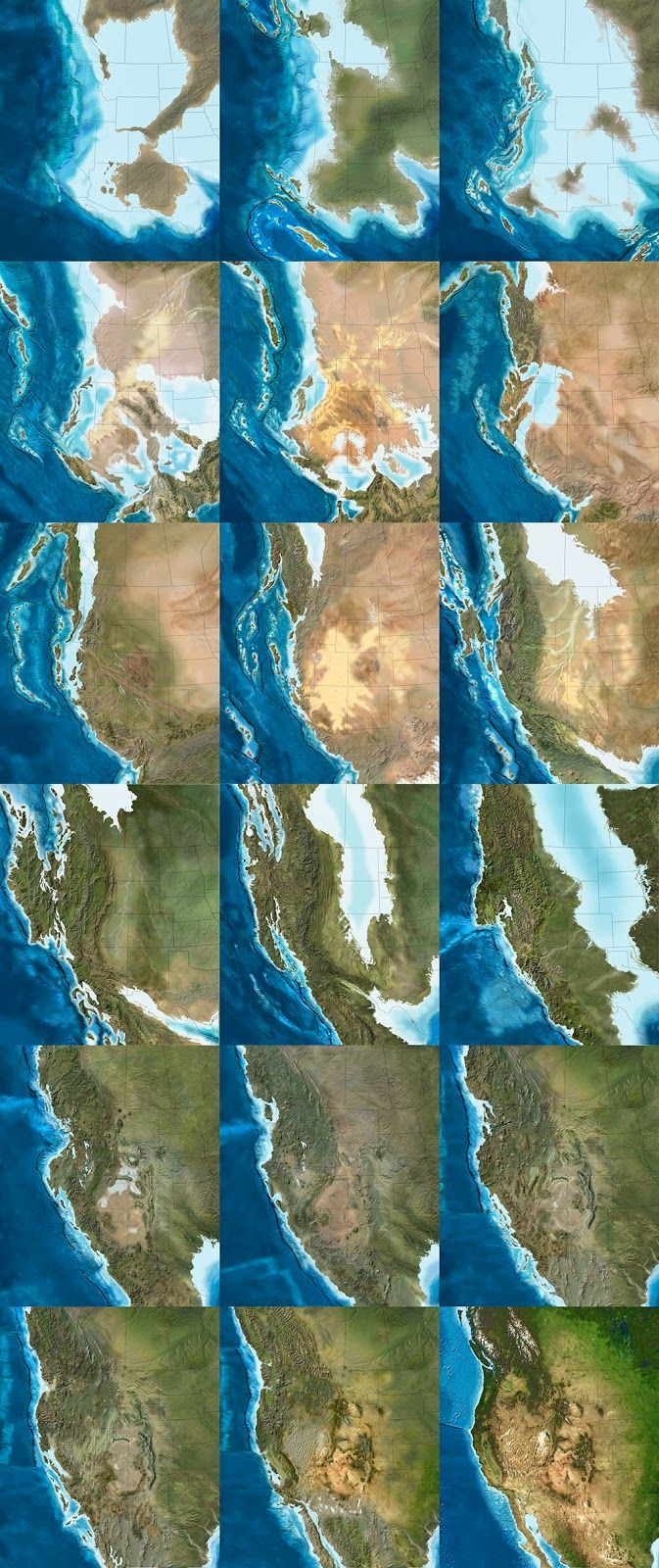 The paleo-tectonic maps of retired geologist Ronald Blakey are mesmerizing and impossible to forget once you've seen them.