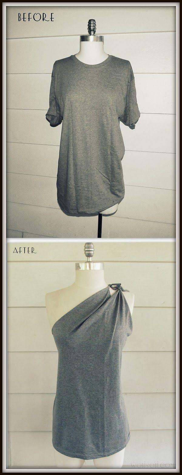 WobiSobi: Side Tied Shirt,DIY