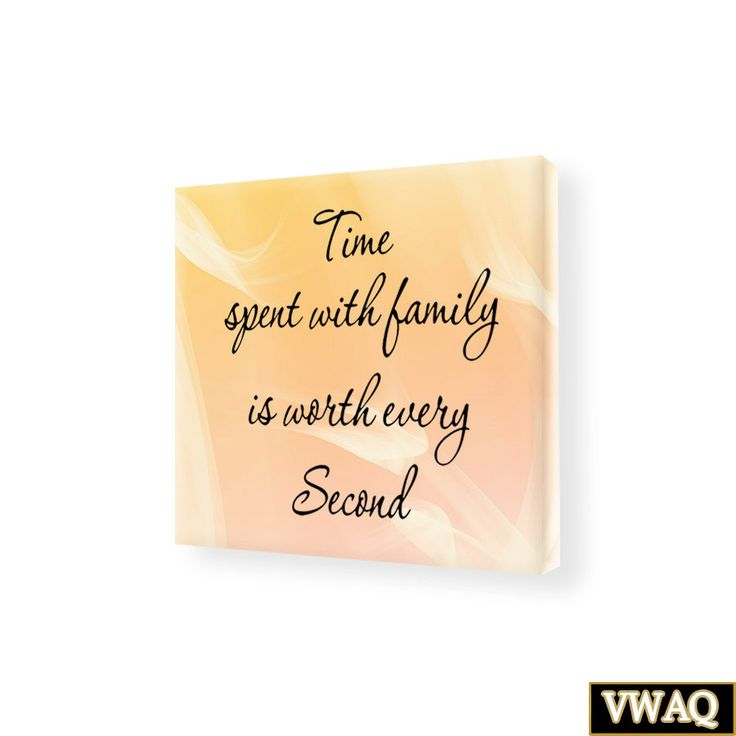 Time Spent WIth Family Stretched Canvas Wall Art Home Decor Family Wall Quotes SC8 Family Art Decor by VWAQ on Etsy