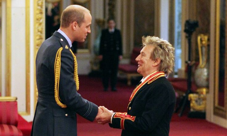 """HELLO! US on Twitter: """"While Kate's away, Prince William performs his royal duty of knighting Sir Rod Stewart"""