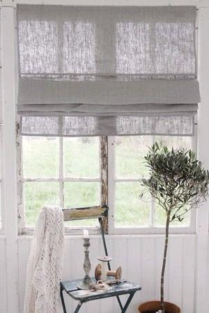 linen shades. olive tree.