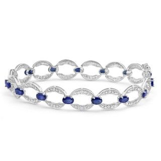 Bracelet, sapphire and diamonds set bracelet, online jewellery, gold, grahams jewellers