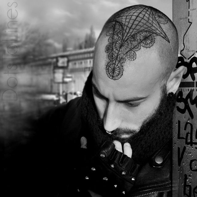 25 best ideas about scalp tattoo on pinterest honeycomb for Tattoo hair line