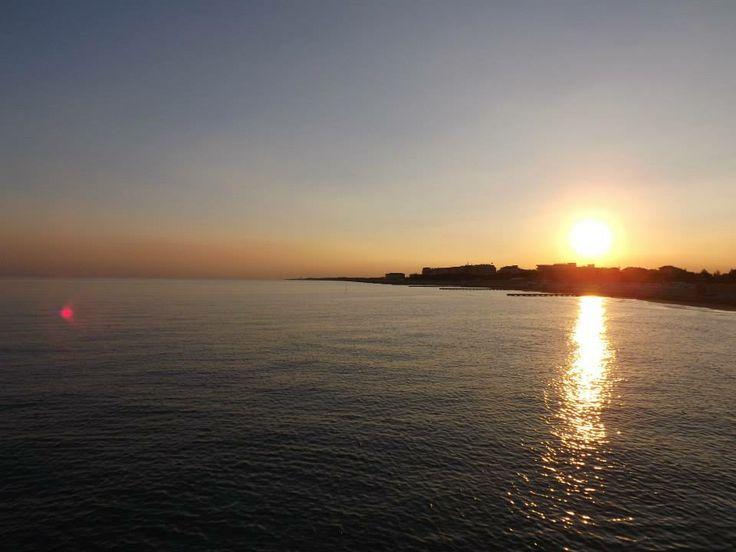 A wonderful #sunset in Porto Santa Margherita, a September evening. #caorle #italy