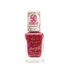 Barry M Nail Polish Pink Glitter 50th Birthday 10ml