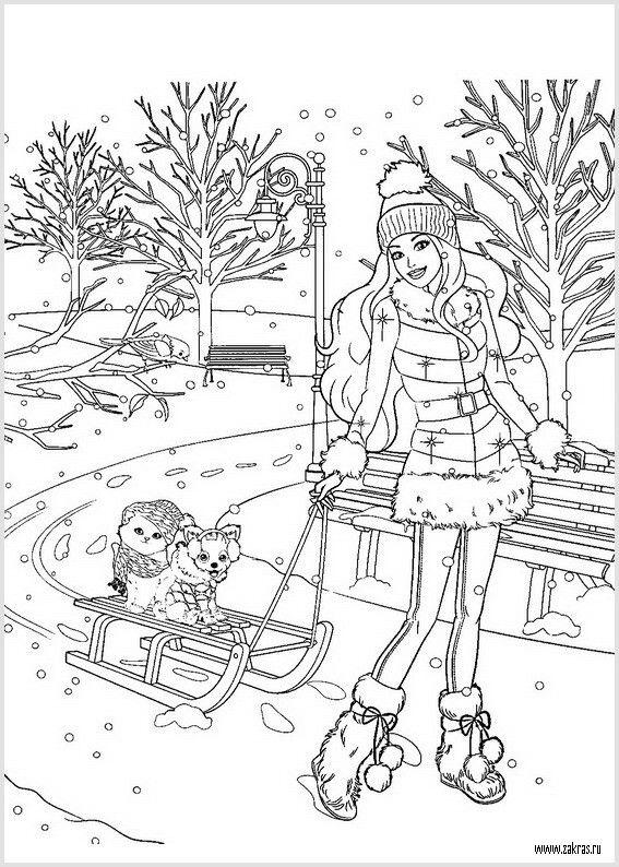 Barbie Christmas Barbie Coloring Barbie Coloring Pages Cute Coloring Pages