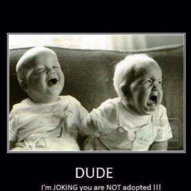 I bet babies have there own inside jokes... lol